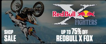 RedBull x FOX - Up to 75% Off