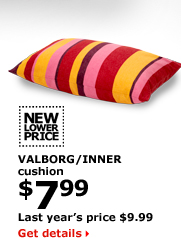 VALBORG/INNER cushion $7.99