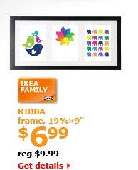 "RIBBA frame, 19¾x9"" $6.99"