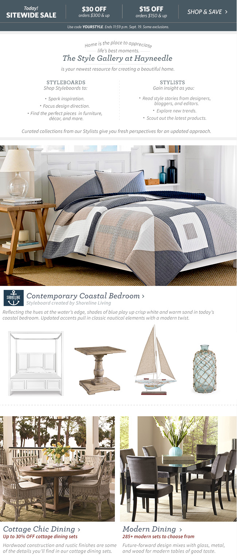Coastal Bedroom & Dining
