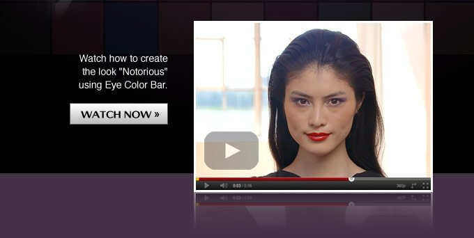 Watch how to create the look Notorious using Eye Color Bar.