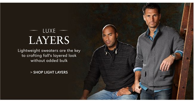 LUXE LAYERS | LIGHTWEIGHT SWEATERS ARE THE KEY TO CRAFTING FALL'S LAYERED LOOK WITHOUT ADDED BULK | SHOP LIGHT LAYERS