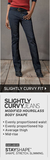 Women's Slightly Curvy Fit Jeans