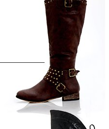 Machi Ramsy Studded Buckle Boots