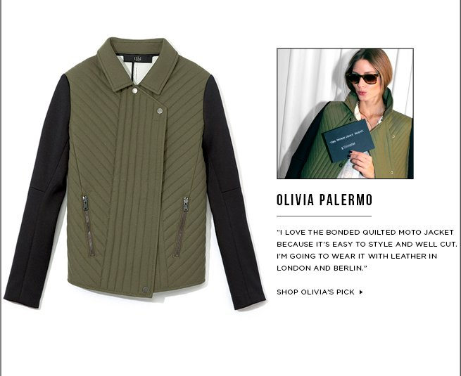 Olivia Palermo's Must-Have: Bonded Quilted Moto Jacket >