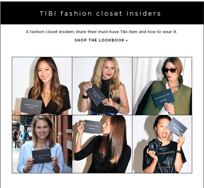 Tibi fashion closet insiders