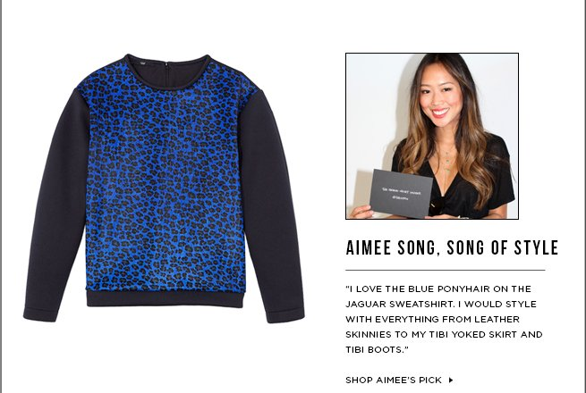 Aimee Song's Tibi Must-Have: The Printed Jaguar Sweatshirt >