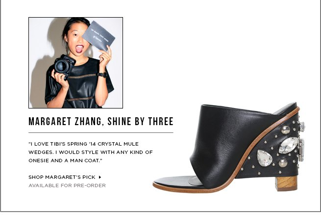 Margaret Zhang's Must-Have: Britt Crystal Mule Wedge