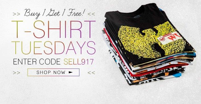 Click to shop T-Shirt Tuesday