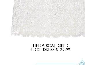 LINDA SCALLOPED EDGE DRESS