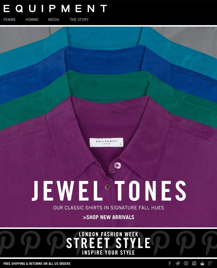 EQUIPMENT | JEWEL TONES - OUR CLASSIC SHIRTS IN SIGNATURE FALL HUES - SHOP NEW ARRIVALS