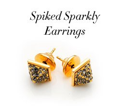 SPIKED SPARKLY EARRINGS