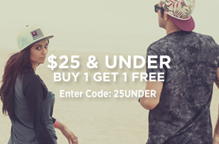 $25 & Under: Buy 1, Get 1 Free