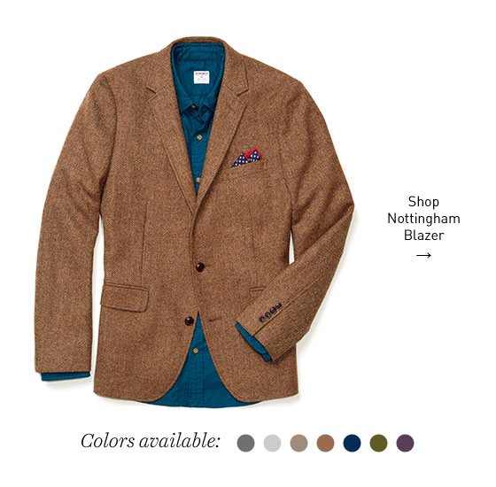 Pair our premium chinos withThe Nottingham Blazer