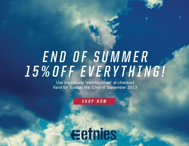 End Of Summer 15% Off Everything