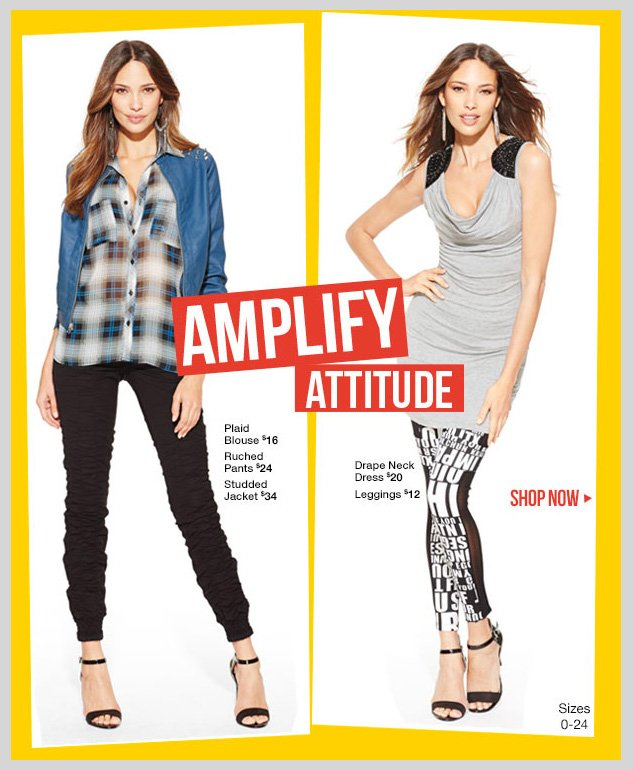 Amplify Attitude! New Fashion Trends starting at $12 - SHOP NOW!