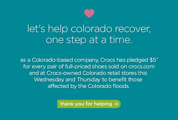 let's help colorado recover, one step at a time. thank you for helping