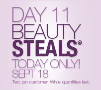 Day 11 Beauty Steals® Today Only! Sept 18th