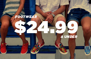 Footwear: 24.99 and Under