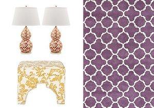 Moroccan Motifs: Furniture, Rugs & Lamps