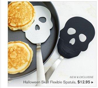 NEW & EXCLUSIVE - Halloween Skull Flexible Spatula, $12.95