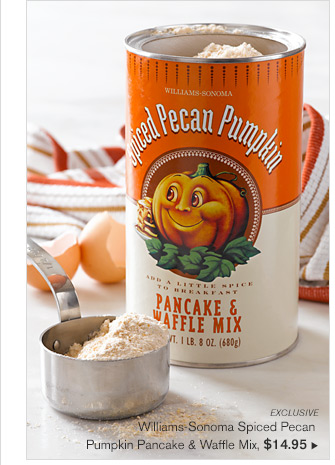 EXCLUSIVE - Williams-Sonoma Spiced Pecan Pumpkin Pancake & Waffle Mix, $14.95