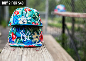 Shop 2 for $40: Patterned MLB Hats