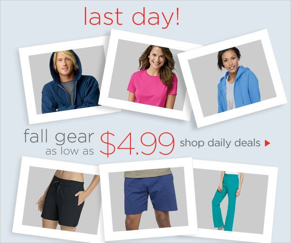 Fall Gear as low as $4.99