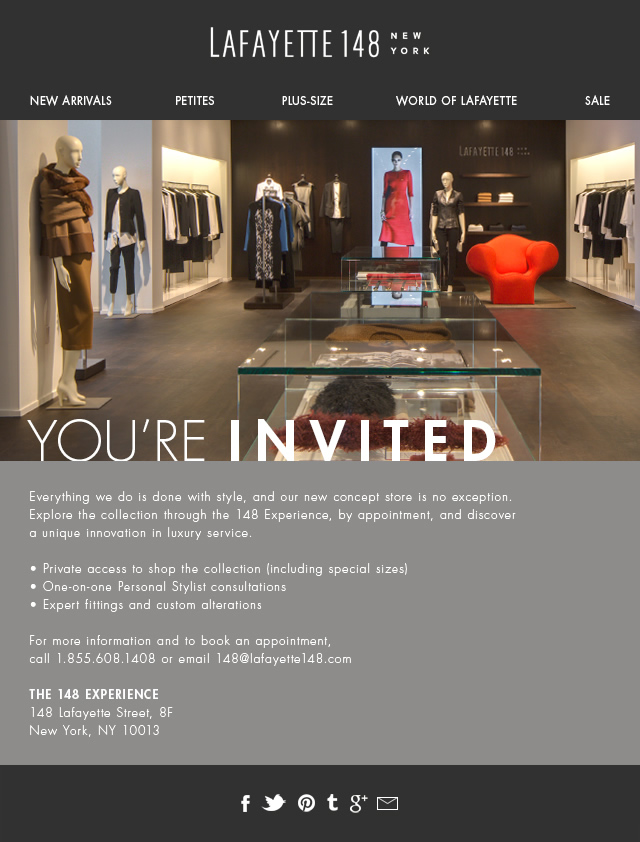 You're invited to our new concept store!