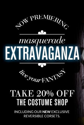 NEW Reversible corsets + 20% off our incredible Costume Shop. Plus, free shipping $50, a sexy Deal of the Day & more amazing steals.