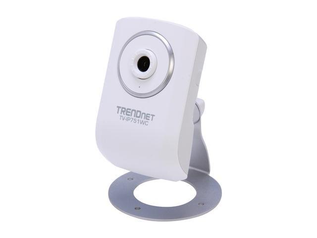 TRENDnet TV-IP751WC 640 x 480 MAX Resolution RJ45 Wireless Cloud Camera