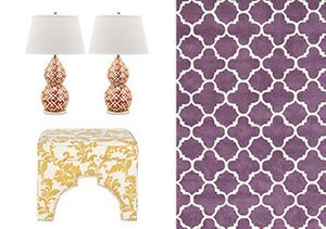 Moroccan Motifs: Furniture, Rugs & Lamps