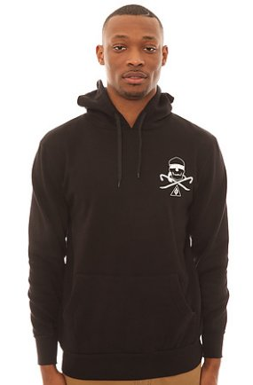 The Wreath Hood Pullover in Black
