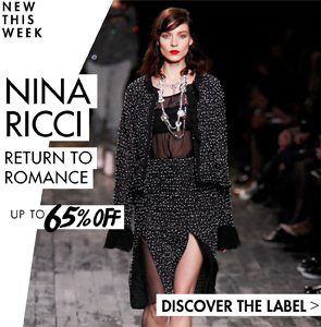 NINA RICCI UP TO 65% OFF SHOW NOW