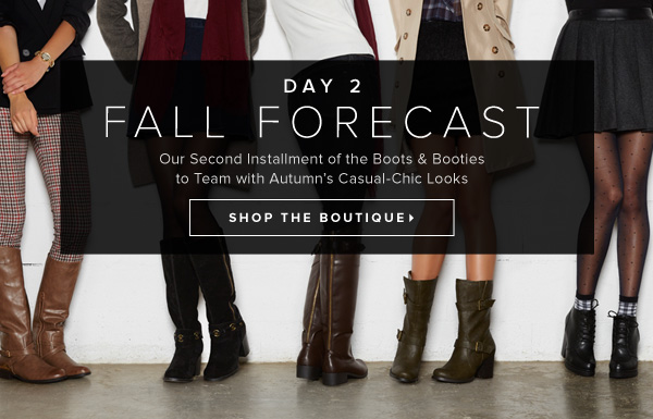 Fall Forecast Our Second Look at What Boots & Booties to Team with Autumn's Off-Duty Looks - - Shop the Boutique