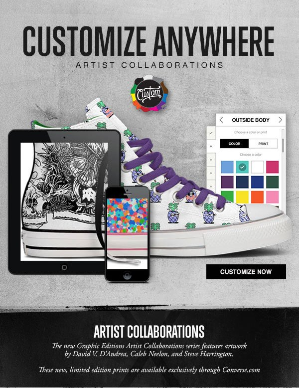CUSTOMIZE ANYWEHRE. ARTIST COLLABORATIONS