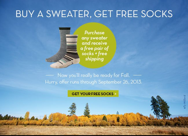 Get your free socks