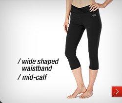 /wide shaped waistband /mid-calf
