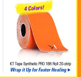 KT Tape Synthetic PRO 16ft Roll 20-strip