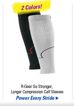 R-Gear Go Stronger, Longer Compression Calf Sleeves