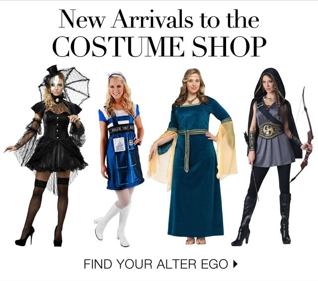 New Arrivals to the Costume Shop