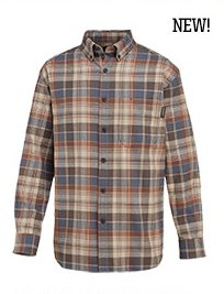 Manistee Long Sleeve Flannel Plaid Shirt