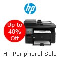 HP Peripheral Sale. Up to 40% Off.