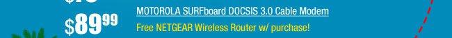 MOTOROLA SURFboard DOCSIS 3.0 Cable Modem