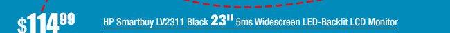 "HP Smartbuy LV2311 Black 23"" 5ms Widescreen LED-Backlit LCD Monitor"