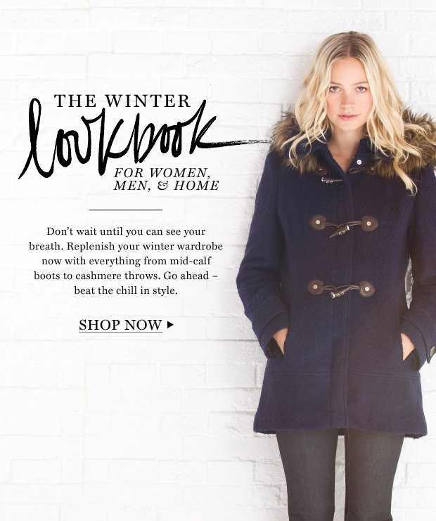 The Winter Lookbook: For Women, Men, & Home