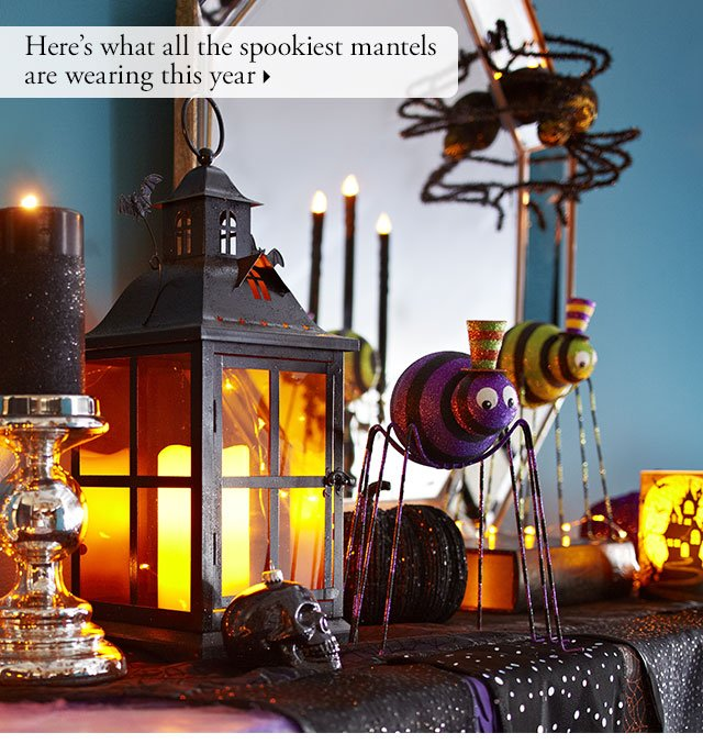 Here's what all the spookiest mantels are wearing this year