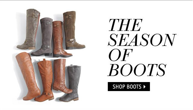 THE SEASON OF BOOTS
