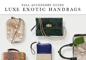 Fall Accessory Guide: Luxe Exotic Handbags