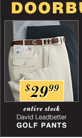 $29.99 USD - David Leadbetter Golf Pants